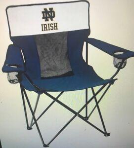 Logo Brands 190-12E-1 Notre Dame Navy & White Elite Chair