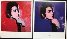 2 x VALENTINO FASHION & MADAME Smith Andy Warhol 1974 MINI POSTER 29x24.5cm R112