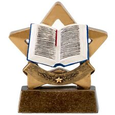 Book mini star Trophy. Prefect For Schools Awards. *Free Engraving*.