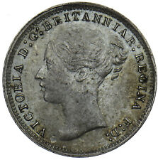 More details for 1879 threepence - victoria british silver coin - very nice