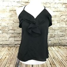 Arte by Zenana Black Ruffle Sleeveless Tank Top Women's Size Small