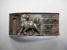 Silber Brosche-Hund+Hundehütte-vintage-lovely solid silver-brooch-dog+doghouse