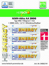 24 x NiMH Akku HEITECH HR6 AA Mignon 2000 mAh Stiftung Warentest: sehr gut