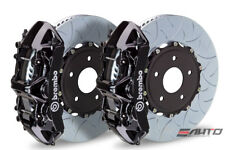 Brembo Front GT Brake 6P Caliper Black 350x34 Type3 Slot Rotor Lancer EVO X 10