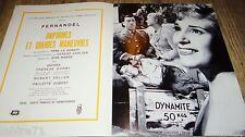 fernandel UNIFORMES ET GRANDES MANOEUVRES !  rare dossier presse cinema 1950