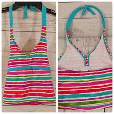 Girls sz S 6/6X Tankini Top Only Striped Mutli-colored XHILARATION   *C049
