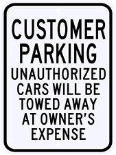 3M Reflective Customer Parking Street Sign Municipal Grade Large Size 18 x 24