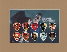 Stevie Wonder Matted Picture Guitar Pick Set Limited Isn't She Lovely