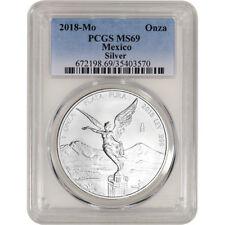 2018 Mexico Silver Libertad 1 oz 1 Onza - PCGS MS69