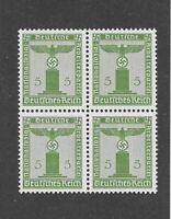MNH Stamp Block / PF05 1942 Issue / Small WWII emblem / Mint Third Reich block