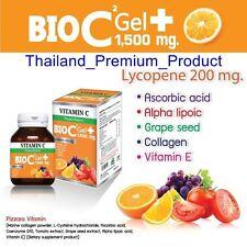 Vitamin C 30 Capsules BIO C 1500mg Alpha + Zinc Tomato Grape Seed Q10 Collagen