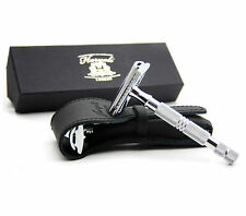 MEN'S DE SAFETY RAZOR IN SLIVER HANDLE - NEWLY DESIGNED BY HARYALI LONDON