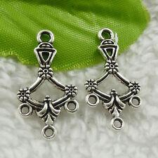 180pcs tibet silver flower earring connector 27x14mm #4631 Free Ship