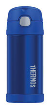 NEW! THERMOS FUNtainer Stainless Steel Insulated Thermos Bottle 12 oz. Blue