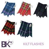 Scottish Kilt Flashes Pride Of Scotland, Royal Stewart and Black Watch Tartans