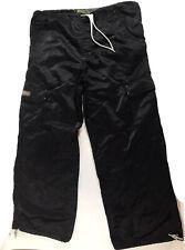 90s KIKWEAR Black Small S Wide Leg Drawstring Power Surge Pants Raver Nylon Goth