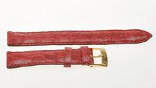 Cinturino coccodrillo nuovo, misura 14mm, red crocodile strap