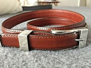 Pat Areias Leather Sterling Belt 28