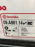 2x BREMBO FRONT BRAKE DISCS SET BRAKING PAIR 09A86114 P NEW OE REPLACEMENT