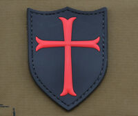 """PVC / Rubber Patch """"Crusader"""" with VELCRO® brand hook"""