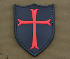 "PVC / Rubber Patch ""Crusader"" with VELCRO® brand hook"