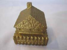 VINTAGE CAST IRON FORT SNELLING GOLD TONE PAPERWEIGHT SOUVENIR