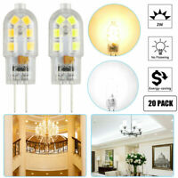 10/20pcs G4 2835 SMD Bi-pin 12 LED Lamp Light Bulb AC 12V 6000K White& Warm lamp