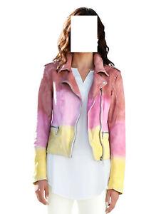 Marken Leder Jackeim Farbverlauf und Used Optik multicolor Gr. 46 0821662403