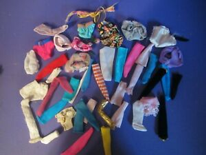 BARBIE CLOTHES LOT.USED..SOME VINTAGE ALL MIXED UP! GLOVES, SOCKS,UNDIES & MORE!