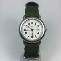 Vintage Swiss Army Womens Cavalry 24530 Date Quartz Analog Wristwatch