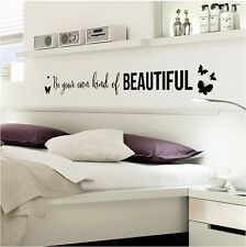 New Beautiful Wall Stickers Decals Bedroom Living Room Decorative Home Decor DIY