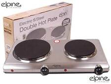 2250w Silver Electrical Double Portable Hot Plate Cooker Table Top