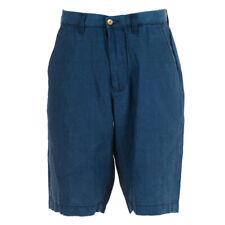 M/&S Mens Tailored Fit LINEN BLEND Shorts Indigo-Blue Waist Size 36-42 rrp £29.50