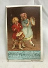 Great Orig. Victorian Trade Card Parker's Hair Balsam Tonic Hiscox & Co. NY