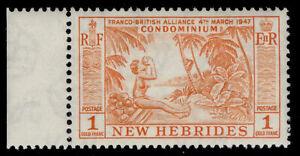 NEW HEBRIDES QEII SG92, 1f orange, NH MINT.
