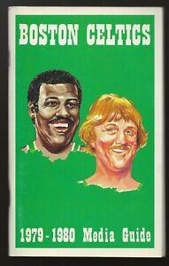 Vintage 1979-80 Boston Celtics Media Guide NBA Larry Bird Rookie Season