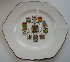 Canada Coats of Arms Emblems Porcelain Hexagonal Plate Marlborough by Simpsons
