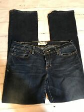 Abercrombie & Fitch Women's Designer Dark Blue Jeans Size 6S Boot Cut Stretch