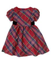 GYMBOREE~HOLIDAY CELEBRATIONS PLAID DRESS~6-12 M~NWT
