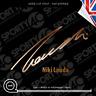 Niki Lauda Signature - Vinyl Decals / Stickers - 2818-0619
