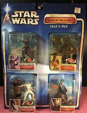 SEALED STAR WARS ATTACK OF THE CLONES FIGURE VALUE 4-PACK Chewbacca/ Elec C3PO