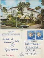 RAFFLES HOTEL - SINGAPORE 1963 AIRMAIL TO ALBONESE PAVIA ITALY