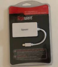 Gigaware male to female mini display port to display port hdmi dvi adapter  -2