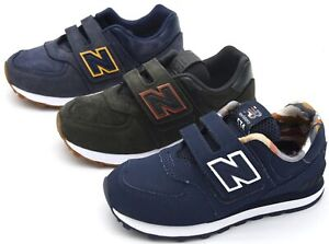 NEW BALANCE JUNIOR BOY SNEAKER SHEOS SPORTS CASUAL TRAINERS LEATHER CODE YV574