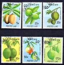 Flore - Fruits Laos (68) série complète de 6 timbres oblitérés