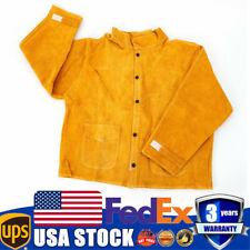 Leather Welding Work Jacket Long-sleeve Flame retardant Welding Clothing Jacket