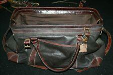 Mila Paoli Leather Doctor Satchel Bag 100% genuine Leather Vintage