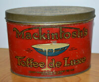 Vintage MACKINTOSH'S TOFFEE DE LUXE Tin Junior Size Advertising Metal Container
