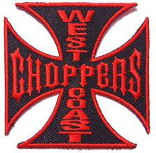 Ecusson Patch thermocollant biker WEST COAST Choppers Bikers USA  noir et rouge