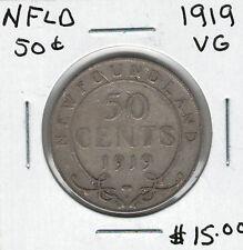 Canada Newfoundland NFLD 1919 50 Cents VG